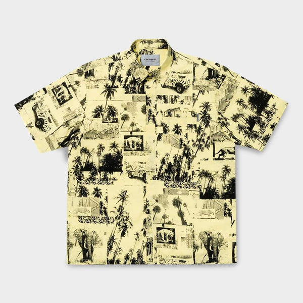 product: Carhartt WIP S/S Safari Shirt Safari Print, Spot