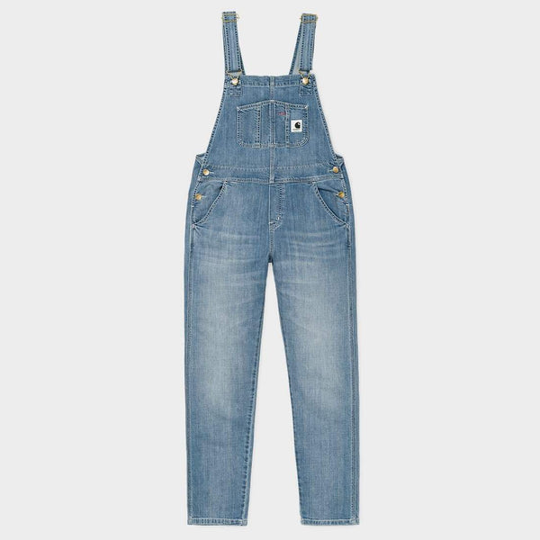 product: Carhartt WIP W's Bib Overall Straight Blue Light Stone Washed