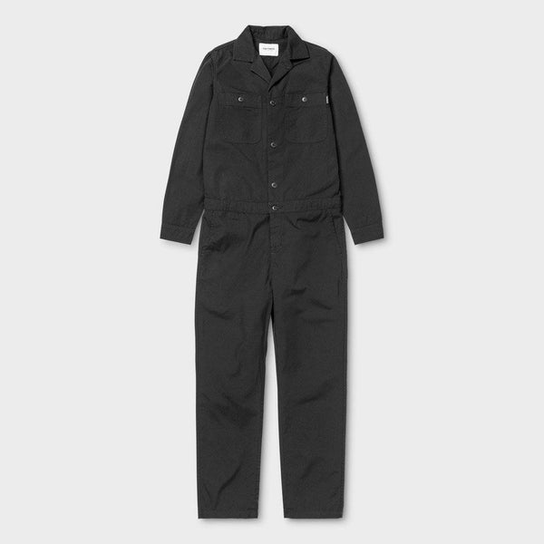 product: Carhartt WIP Women's Cass Coverall Soot / Stone Washed