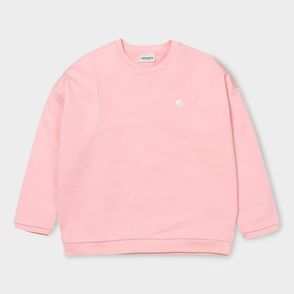 product: Carhartt WIP Women's Ellery Egypt Sweatshirt Soft Rose / Black