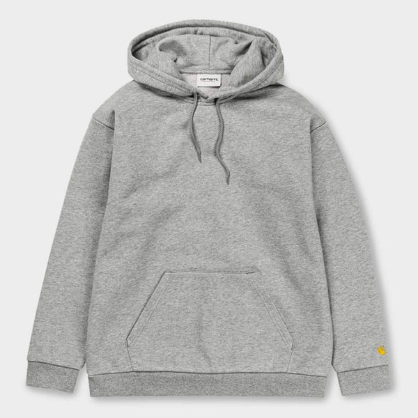 product: Carhartt WIP Women's Hooded Chase Sweatshirt Grey Heather / Gold