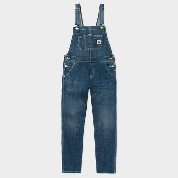 product: Carhartt WIP Women's Bib Overall Blue Prime Stone FW
