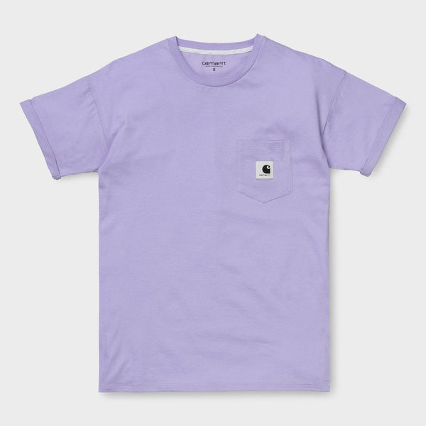product: Carhartt WIP Women's Carrie Pocket T-Shirt Soft Lavender/ Ash Heather