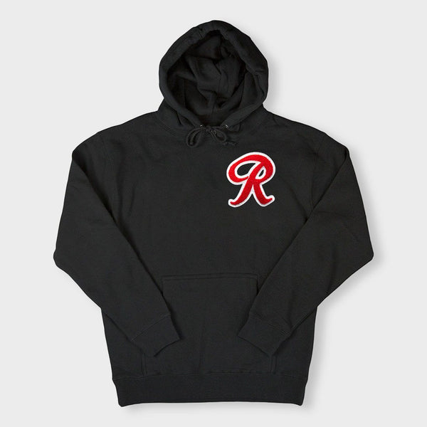 product: Casual Industrees R Chenille Hoodie Black