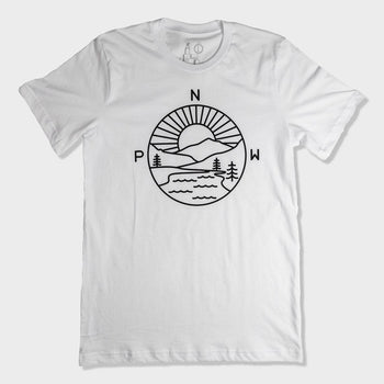 product: Casual Industrees Women's PNW Explorer T-Shirt White