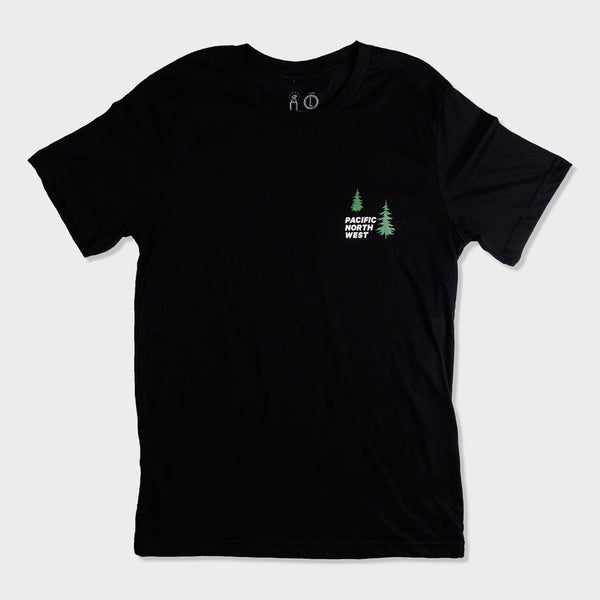 product: Casual Industrees Women's PNW Falls T-Shirt Black
