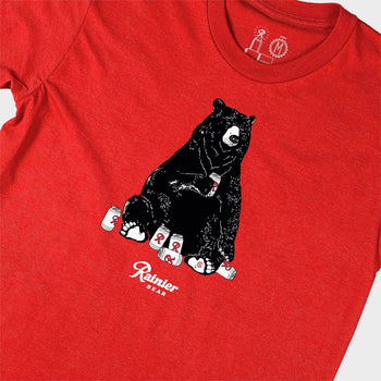 product: Casual Industrees Casual x Rainier Bear SS Tee Red