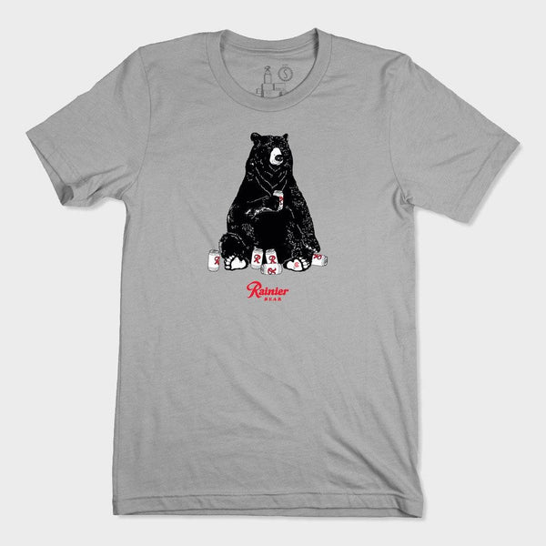 product: Casual Industrees Casual x Rainier Women's Bear SS Tee Grey