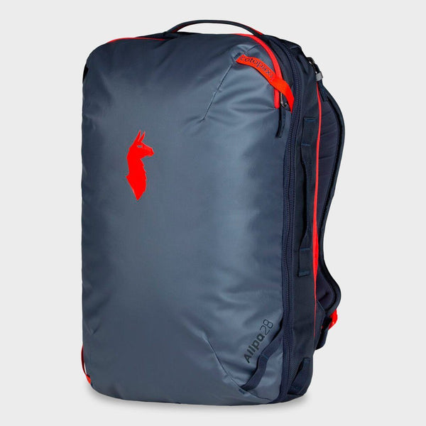 product: Cotopaxi Allpa 28L Travel Pack Graphite/Fiery Red
