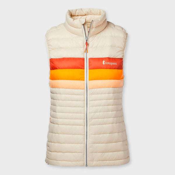 product: Cotopaxi Women's Fuego Down Vest Cream Stripes