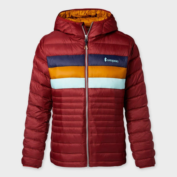 product: Cotopaxi Women's Fuego Hooded Down Jacket Port Stripes