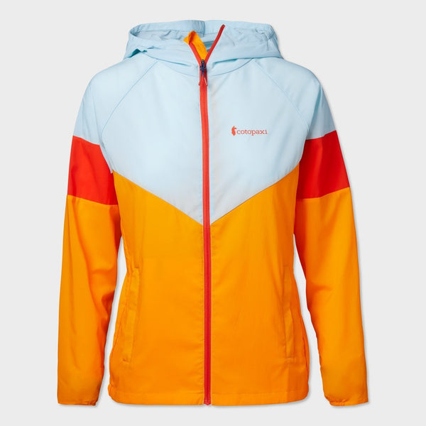 product: Cotopaxi Women's Palmas Active Windshell Glacier/ Poppy