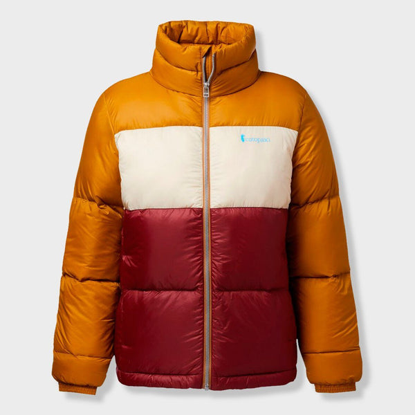 product: Cotopaxi Women's Solazo Down Jacket Bronze/Port