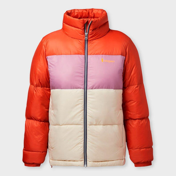 product: Cotopaxi Women's Solazo Down Jacket Cayenne/Plum