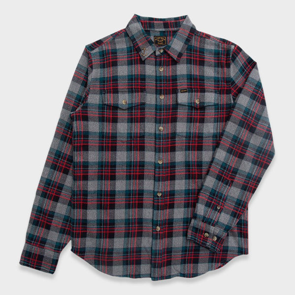 product: Dark Seas Awol Flannel Navy/ Teal