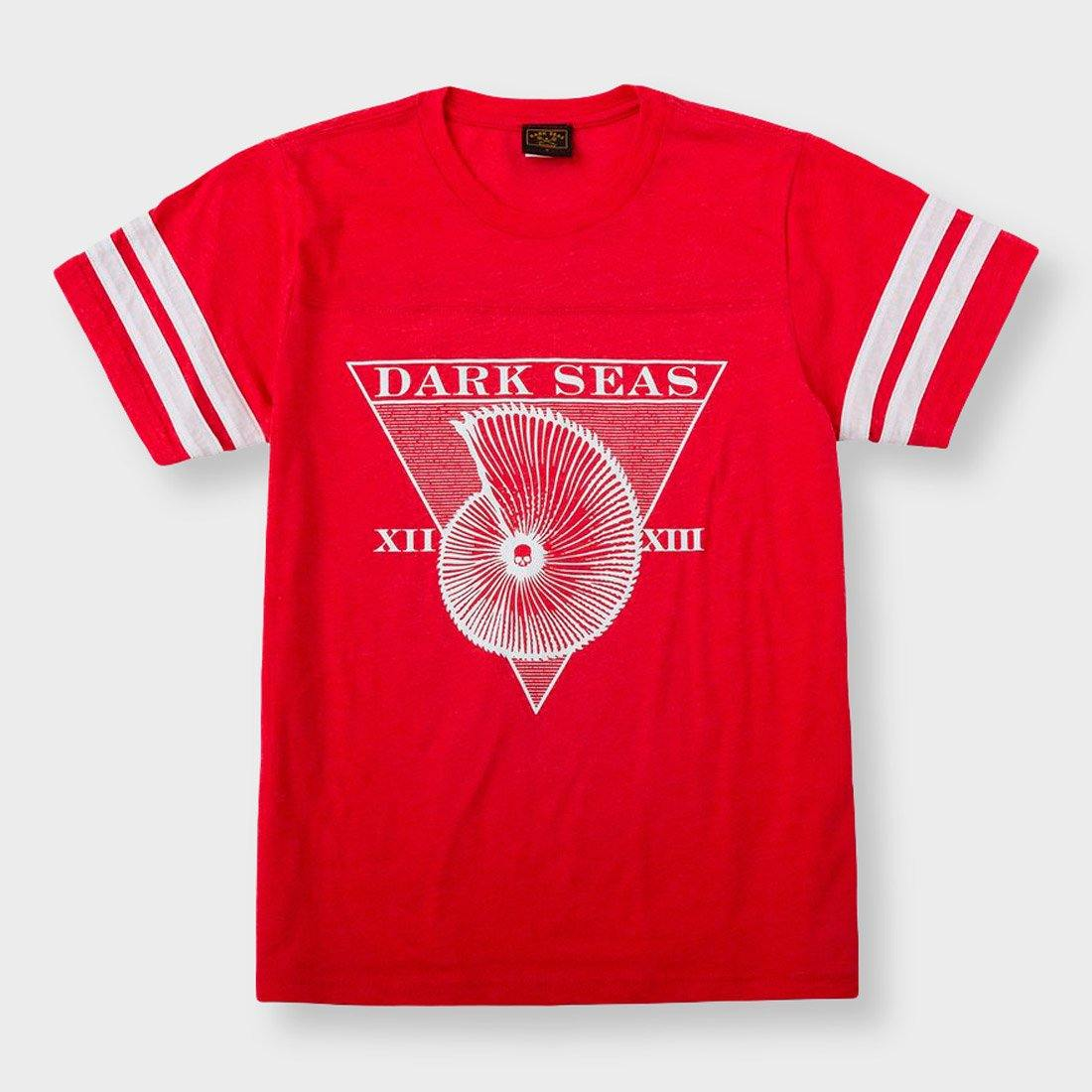 Dark Seas Women's Blue Sunday T-Shirt Heather Red