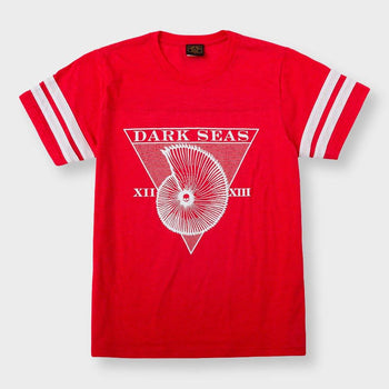 product: Dark Seas Women's Blue Sunday T-Shirt Heather Red