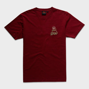 product: Deus Ex Machina Bjorn Venice T-Shirt Ruby Red