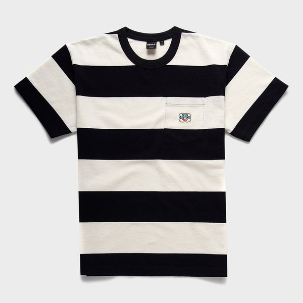 product: Deus Ex Machina Bonnieville Stripe T-Shirt Vintage White