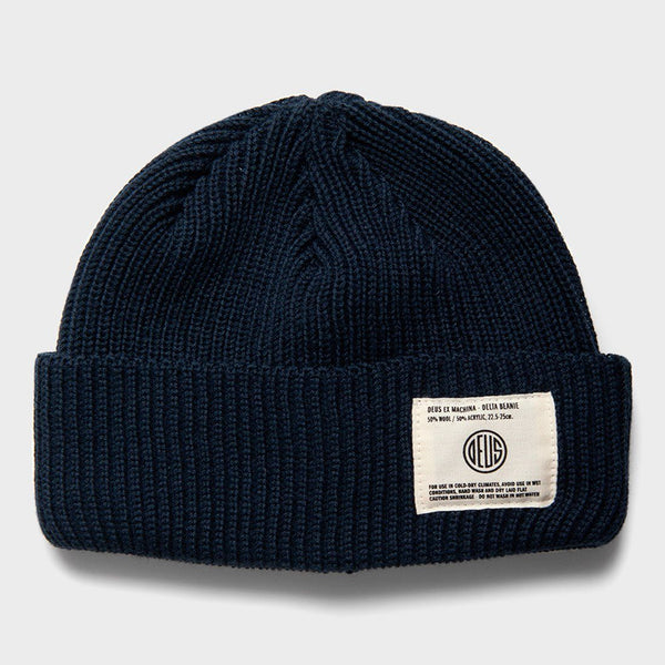 product: Deus Ex Machina Delta Beanie Midnight Blue