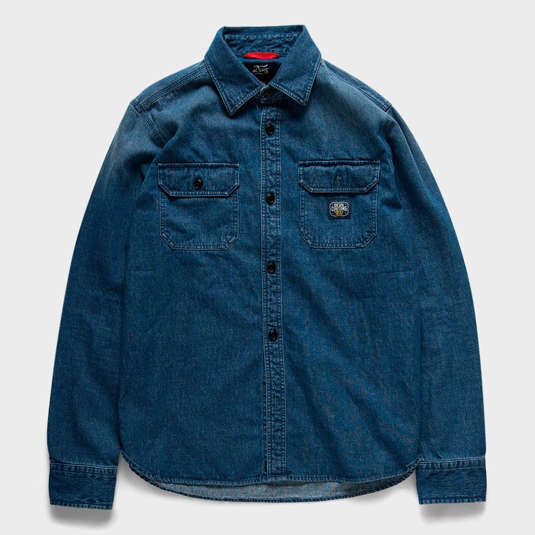 Deus Ex Machina Maxwell Workers Shirt Light Indigo
