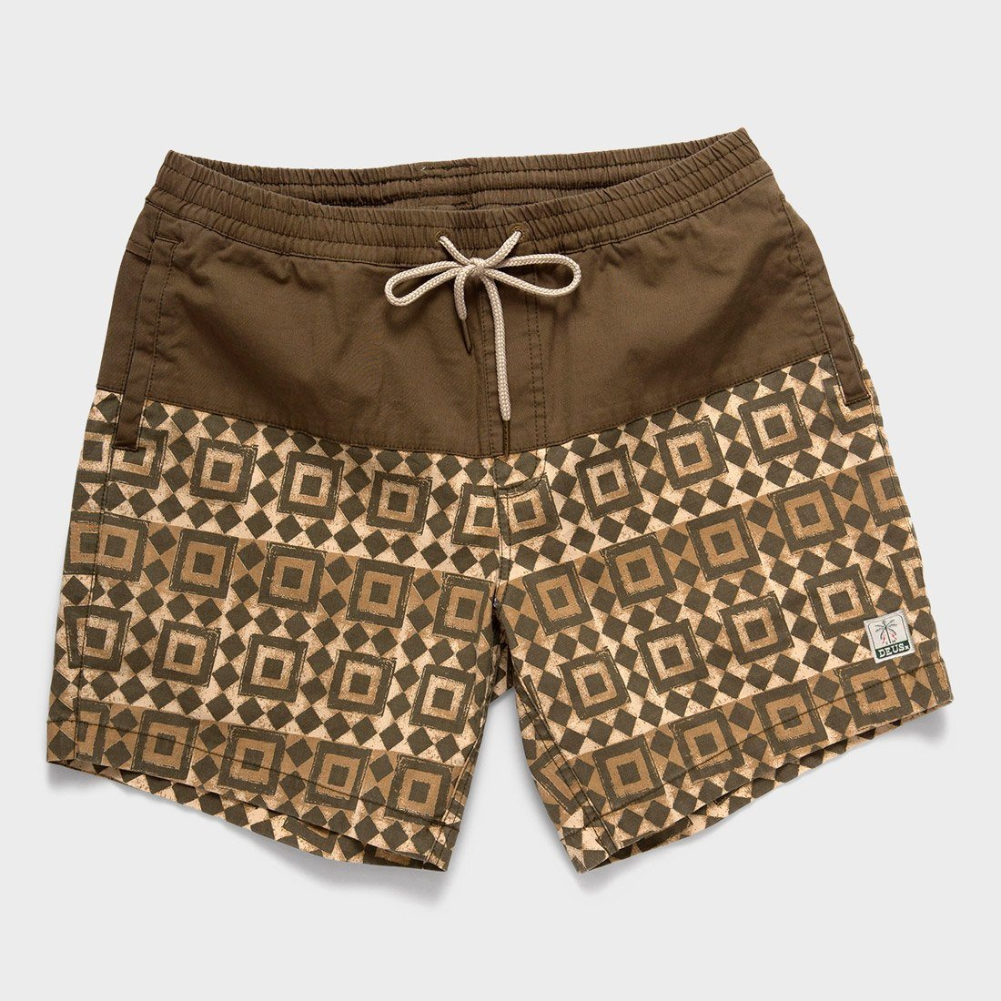 Deus Ex Machina Sandbar Breeze Block Shorts Dark Olive