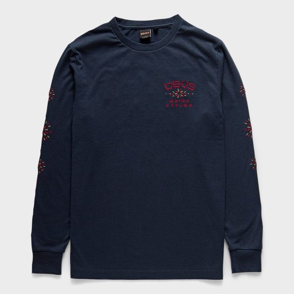 product: Deus Ex Machina Solita Embroidered T-Shirt Midnight Blue