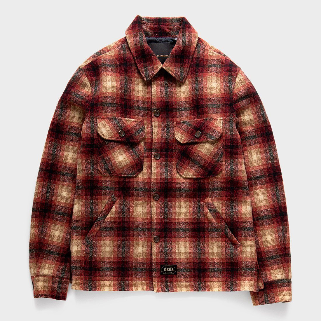 Deus Ex Machina The Piston Wool Shirt Red