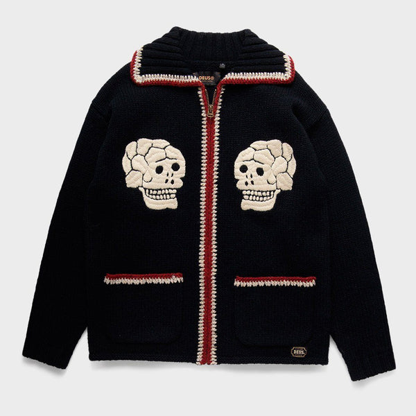 product: Deus Ex Machina Trappa Knit Cardigan Black