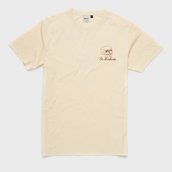 product: Deus Ex Machina Four Eyes Tee Off White