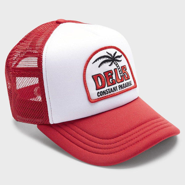 product: Deus Ex Machina Juliett Trucker Hat Red