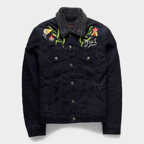 product: Deus Ex Machina Ronald Orchid Sherpa Jacket Black