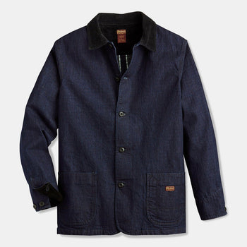 product: Dickies 1922 Con Denim Mill White Oak 11 oz Selvedge Jacket Indigo