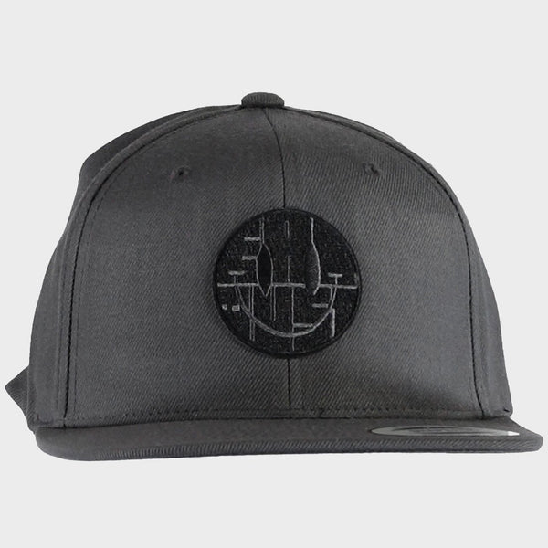 product: Eat Dust X Snapback Cap Smile Cotton Hat Grey Melange