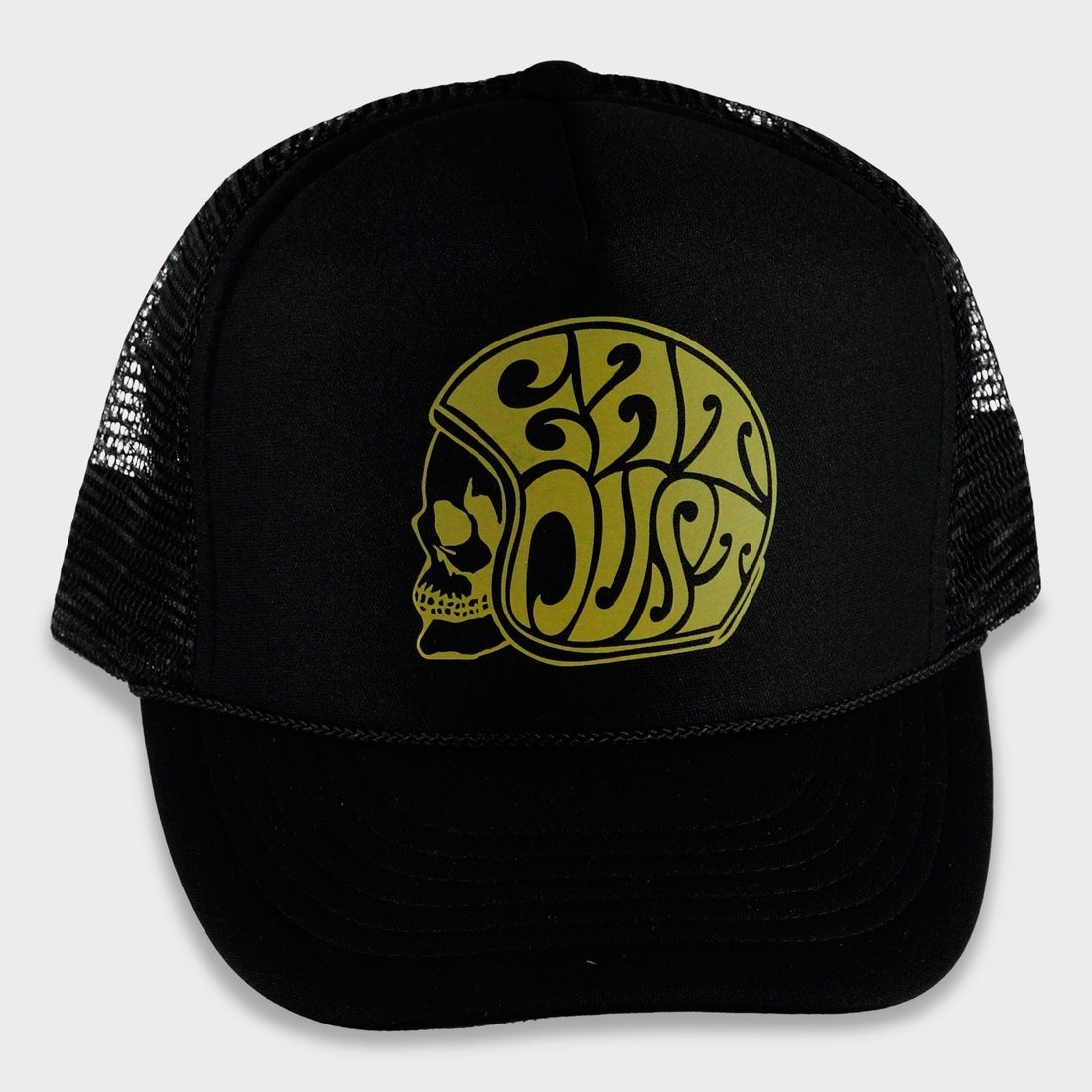 Eat Dust X Trucker Cap Ed Skull Nylon Hat Black