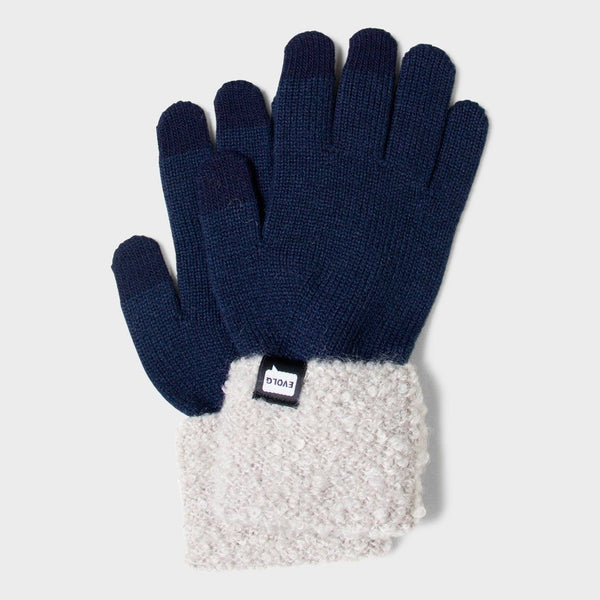product: Evolg Women's Focus Glove Navy & Grey