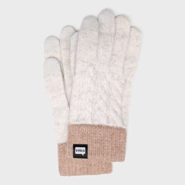 product: Evolg Minos Glove Off White x Brown