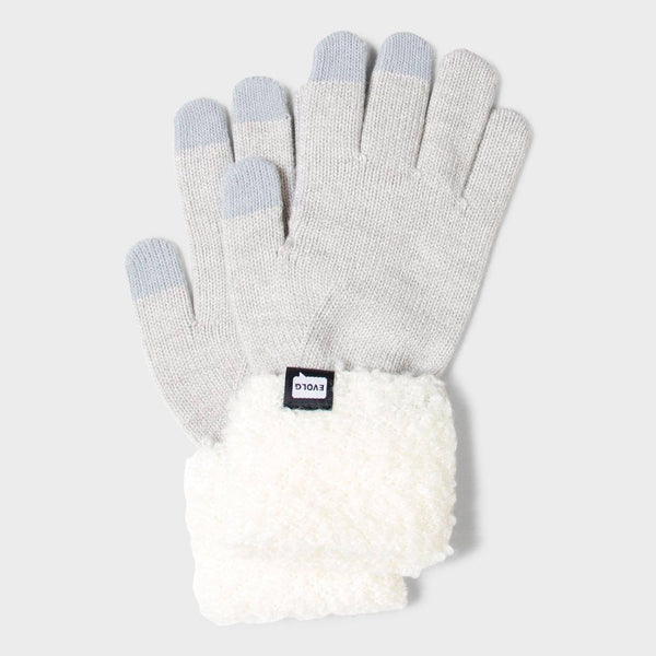 product: Evolg Women's Focus Glove Light Grey/ White
