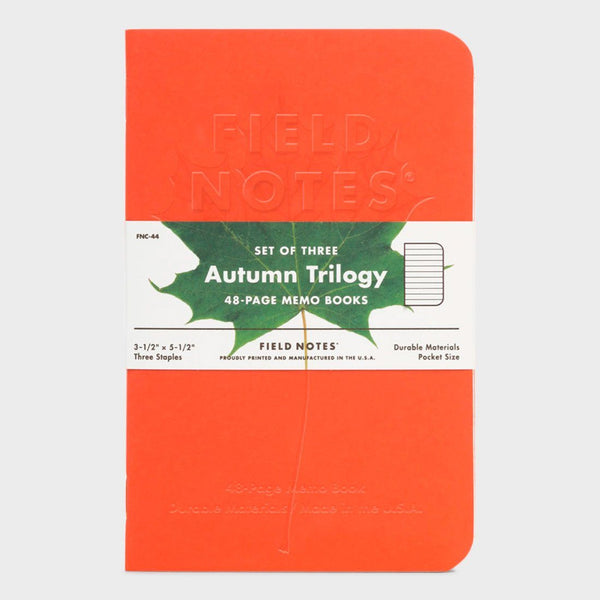 product: Field Notes Autumn Trilogy Notebooks