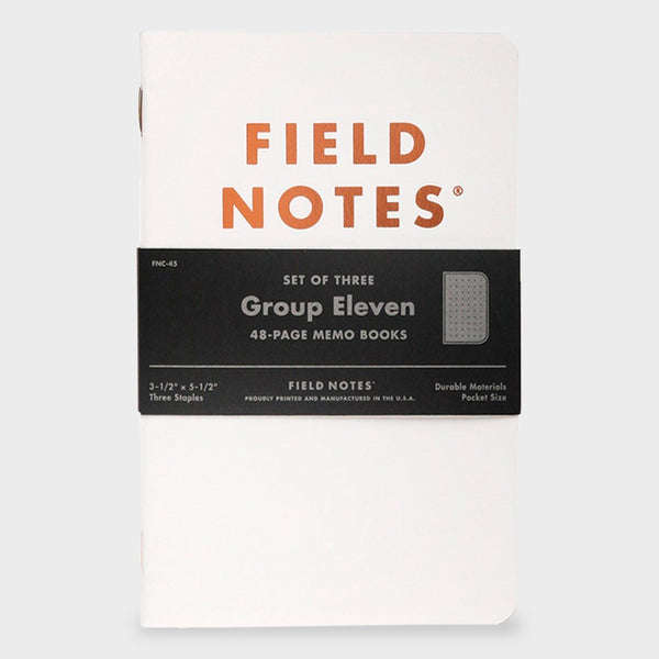 Field Notes Group Eleven (3-Pack) White