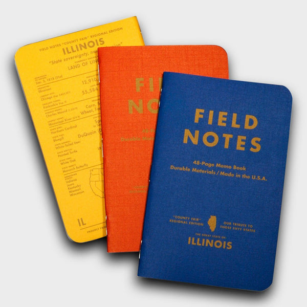 product: Field Notes Illinois County Fair 3 Pack