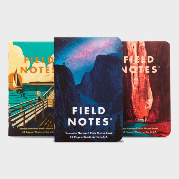 product: Field Notes National Parks Series (3-Pack) Yosemite, Zion, Acadia