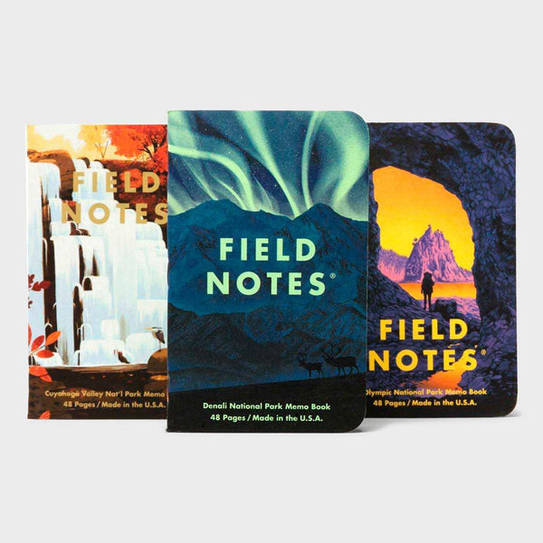 product: Field Notes National Parks Series (3-Pack) Denali, Cuyahoga Valley, Olympic