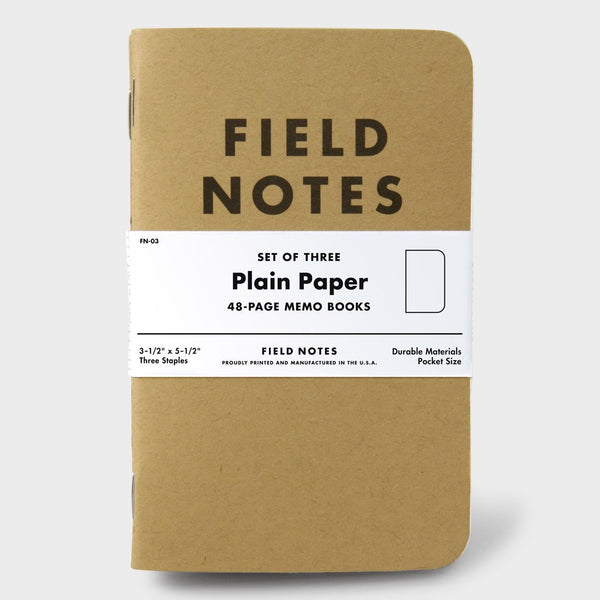 product: Field Notes Plain (3-pack)