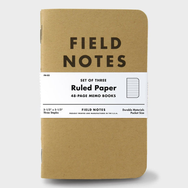 product: Field Notes Ruled (3-pack)