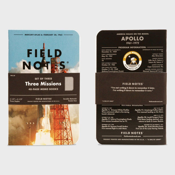product: Field Notes Three Missions LTD 3 Pack
