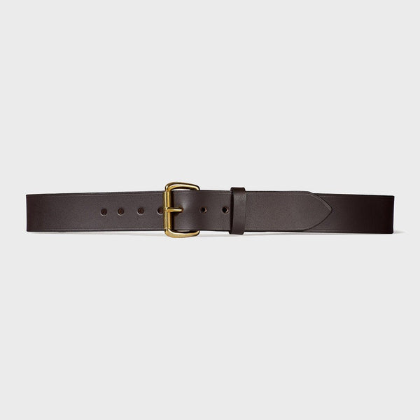 "product: Filson 1 1/2"" Leather Belt Brown/ Stainless Steal"