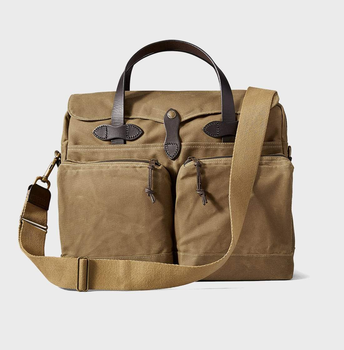 Filson 24 Hour Tin Briefcase Dark Tan