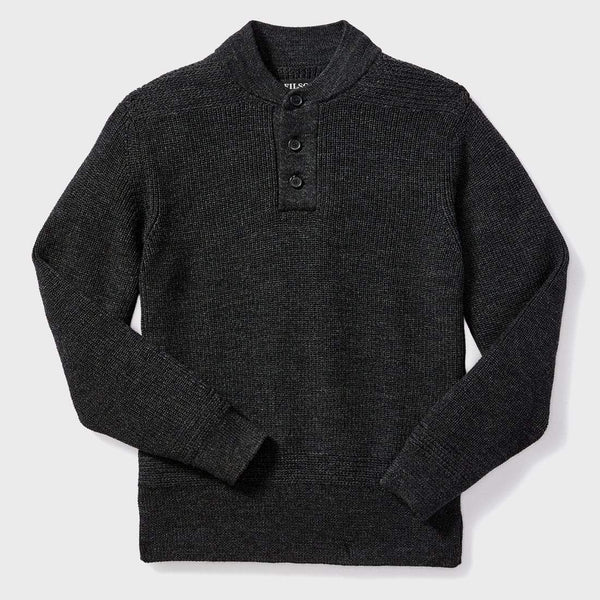 product: Filson 5GG Crewneck Sweater Charcoal