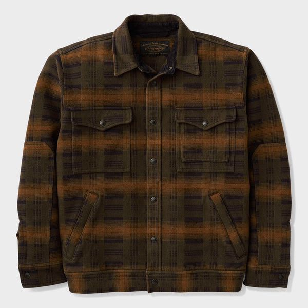 product: Filson Beartooth Camp Jacket Black/ Olive/ Brown Plaid